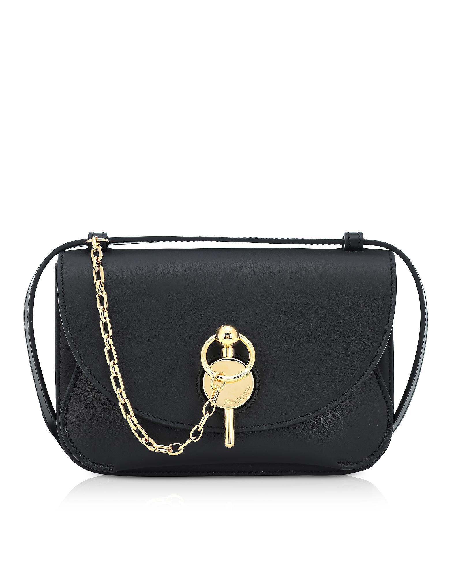 Black Midi Keyts Crossbody Bag