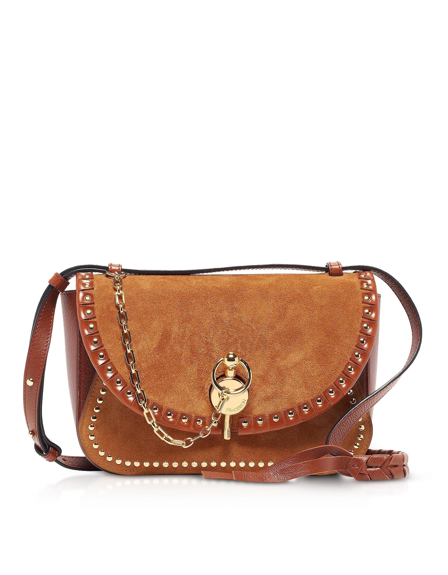 JW Anderson Designer Handbags, Sporran Suede Keyts Shoulder Bag