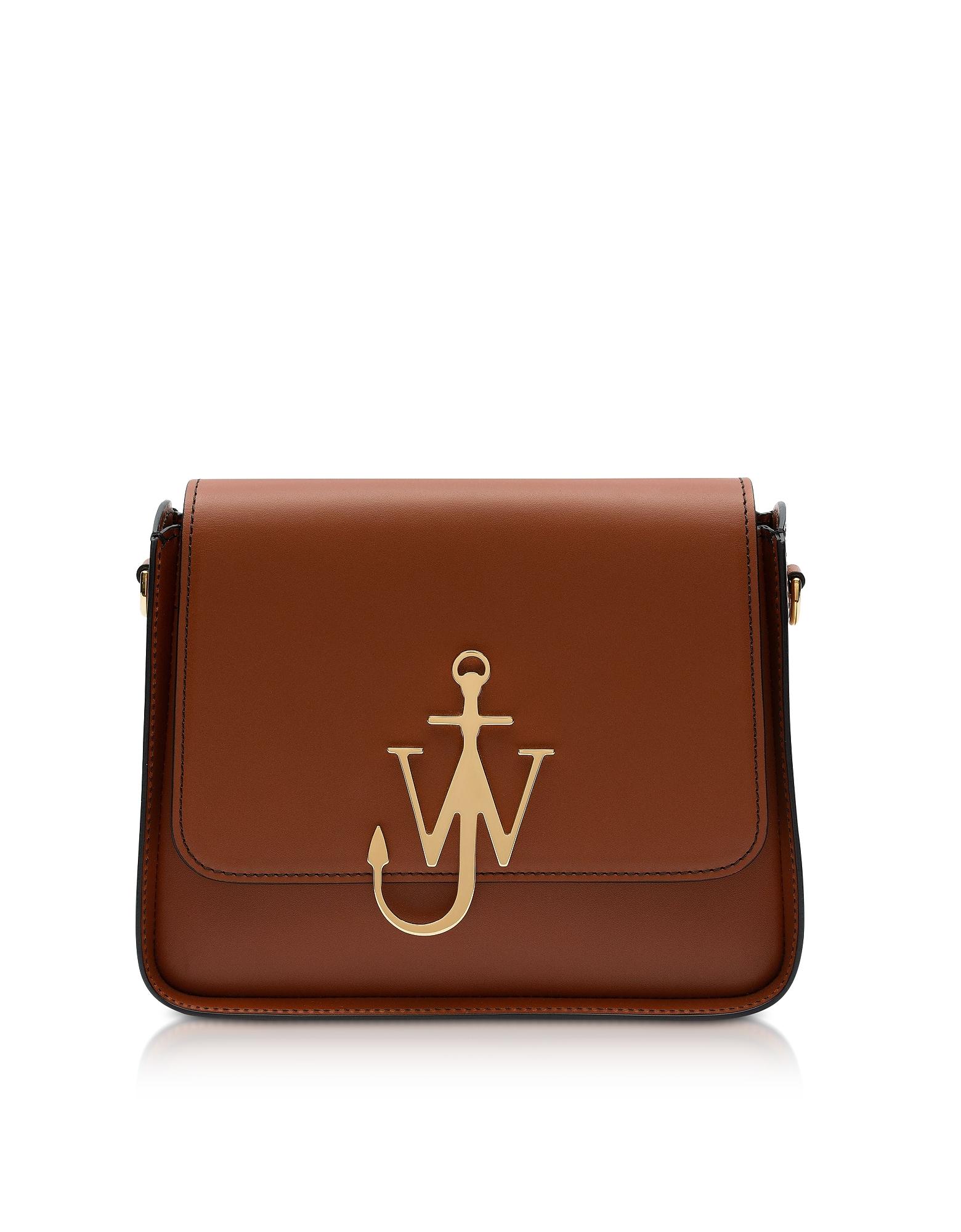 Anchor Logo Box Bag, Caramel