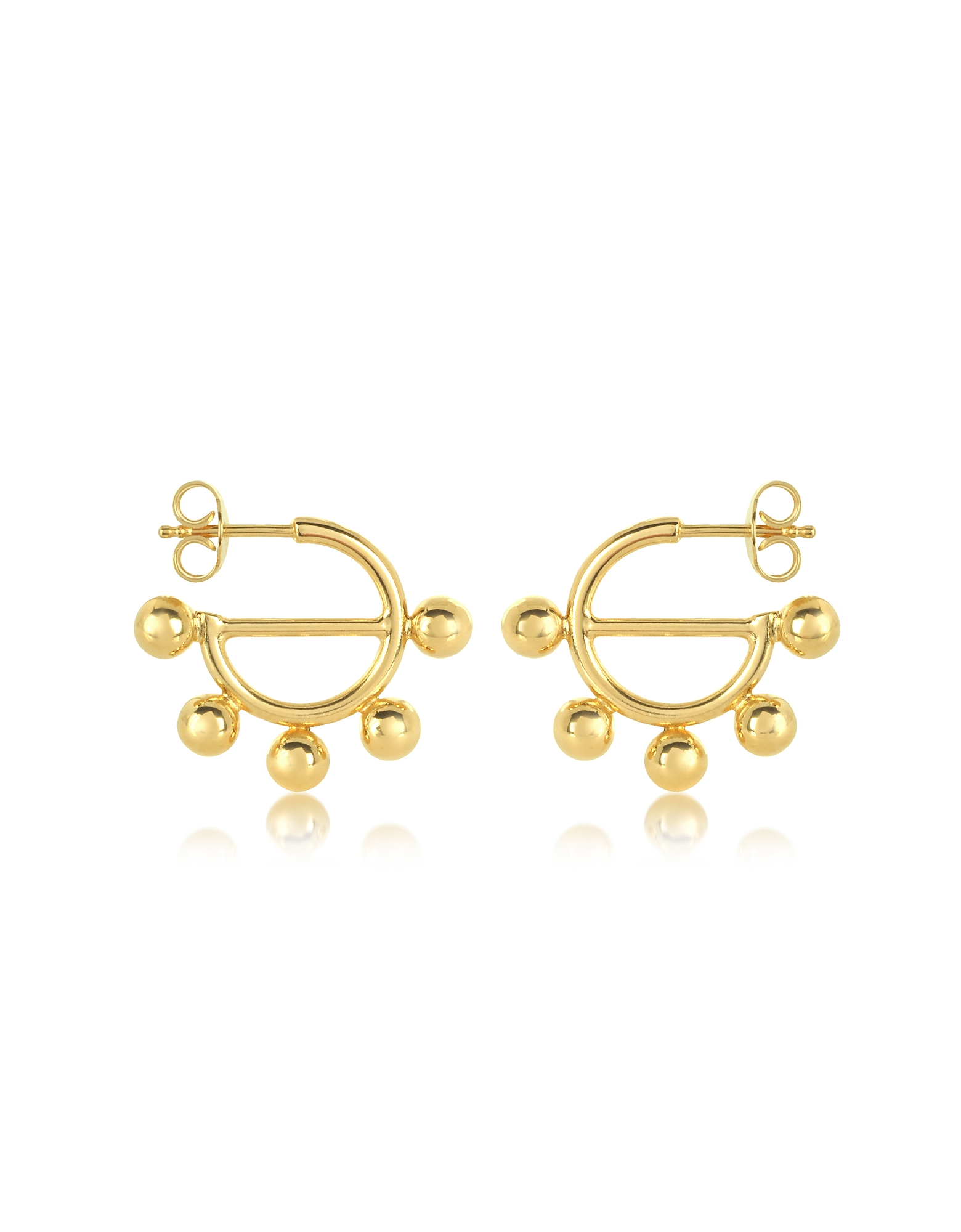 Disc Mini Hoop Earrings, Gold