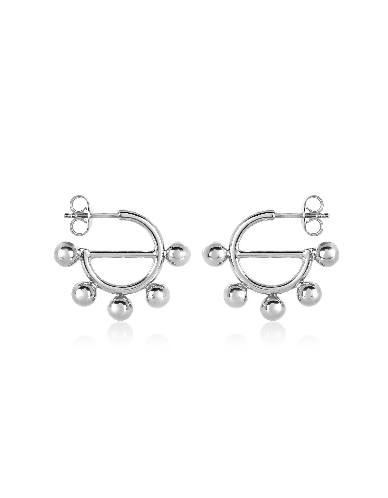 JW Anderson Designer Earrings, Disc Mini Hoop Earrings