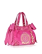 Iconic Crest Velour Mini Daydreamer Handbag - Juicy Couture