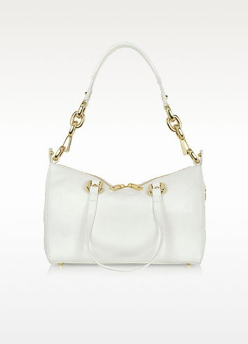 Frankie White Leather Satchel - Juicy Couture