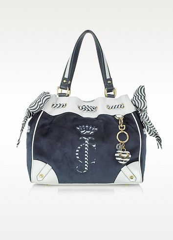 All Aboard Velour Daydreamer Tote - Juicy Couture