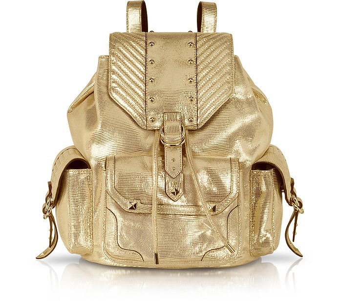 Embellished Leather Cargo Backpack - Juicy Couture