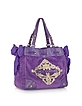 Large Ornate Velour Daydreamer Tote - Juicy Couture