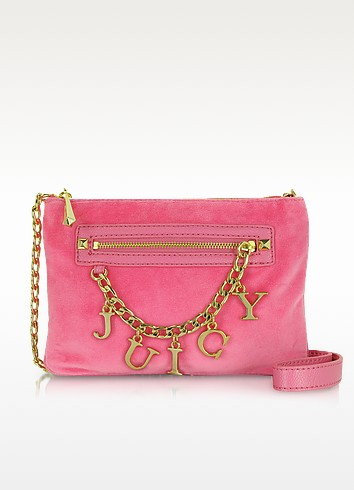 Iconic Charm Velour Flat Crossbody - Juicy Couture