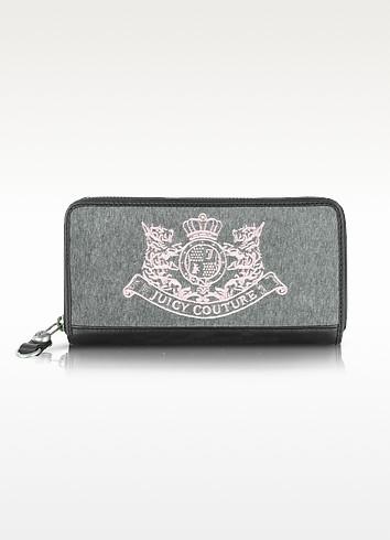 New Scottie Embroidery Zip Wallet - Juicy Couture