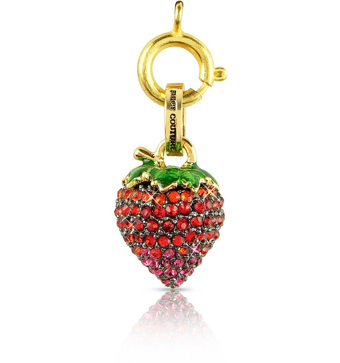 Crystal Strawberry Charm - Juicy Couture