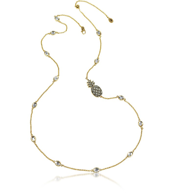 Pineapple and Crystal Necklace - Juicy Couture