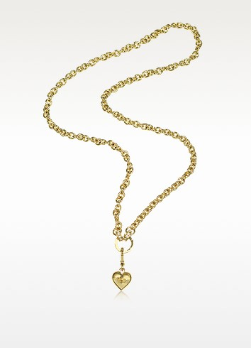 Chunky Link Heart Catcher Necklace - Juicy Couture