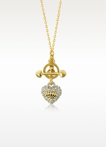 Pave Heart Necklace - Juicy Couture