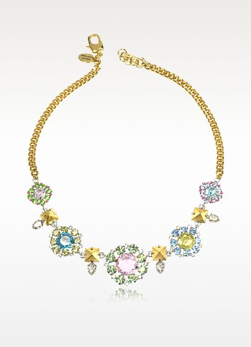 Rhinestone Flower Bib Necklace - Juicy Couture