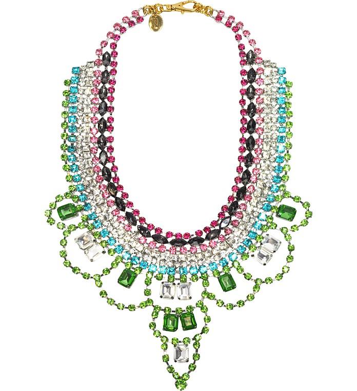 Multi Rhinestone Drama Necklace - Juicy Couture