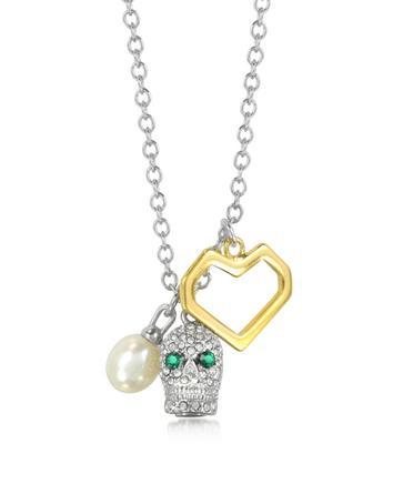 Pave Skull Cluster Necklace