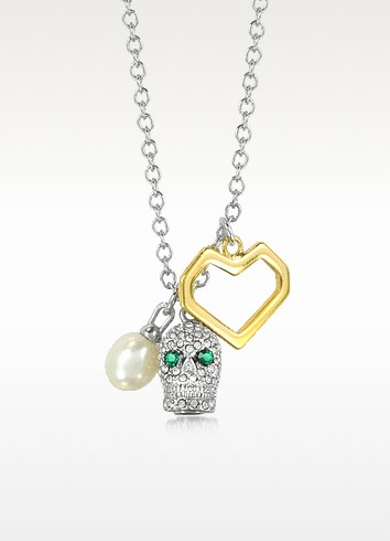 Pave Skull Cluster Necklace - Juicy Couture