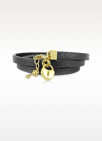 Triple Leather Wrap Padlock Bracelet - Juicy Couture