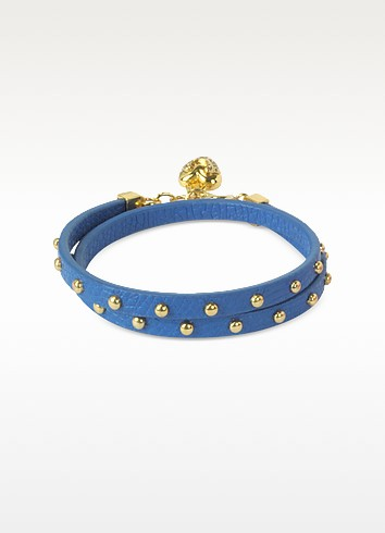 Double Wrap Studded Leather Bracelet - Juicy Couture