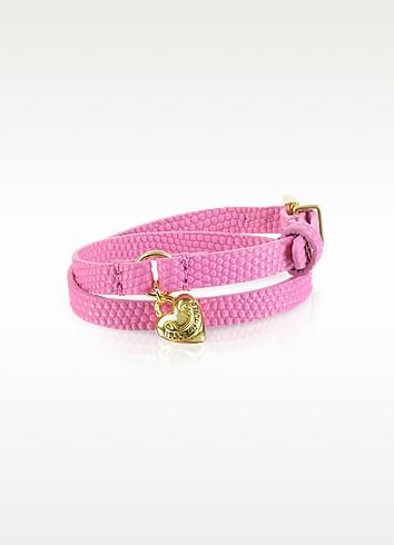 Double Wrap Pink Leather Bracelet - Juicy Couture