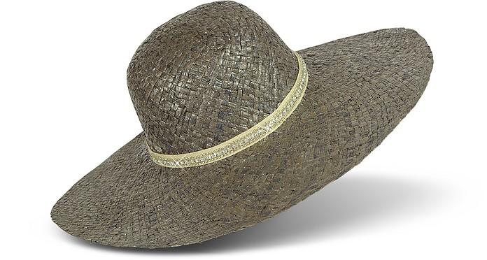 Metallic Floppy Straw Hat - Juicy Couture