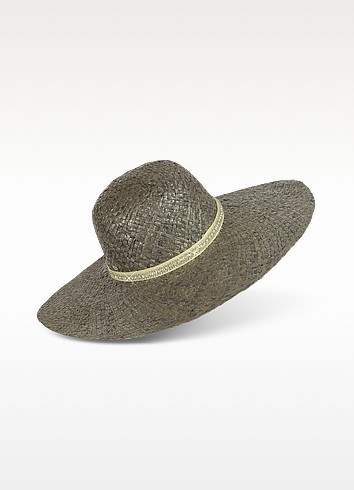 Metallic Floppy Straw Hat - Juicy Couture