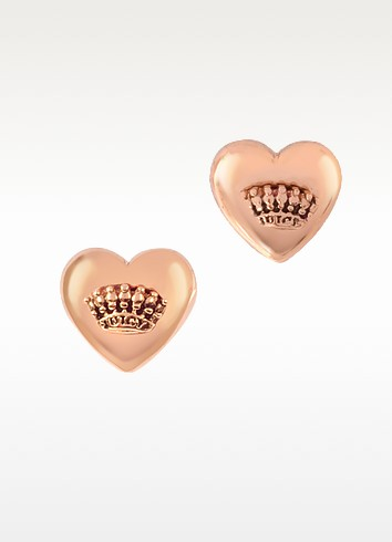 Puffed Heart Stud Earrings - Juicy Couture