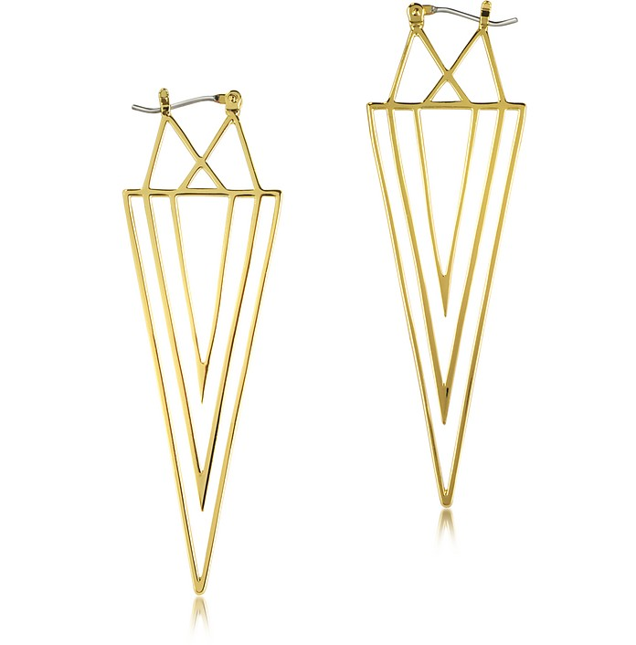 Gold Spike Linear Earring - Juicy Couture