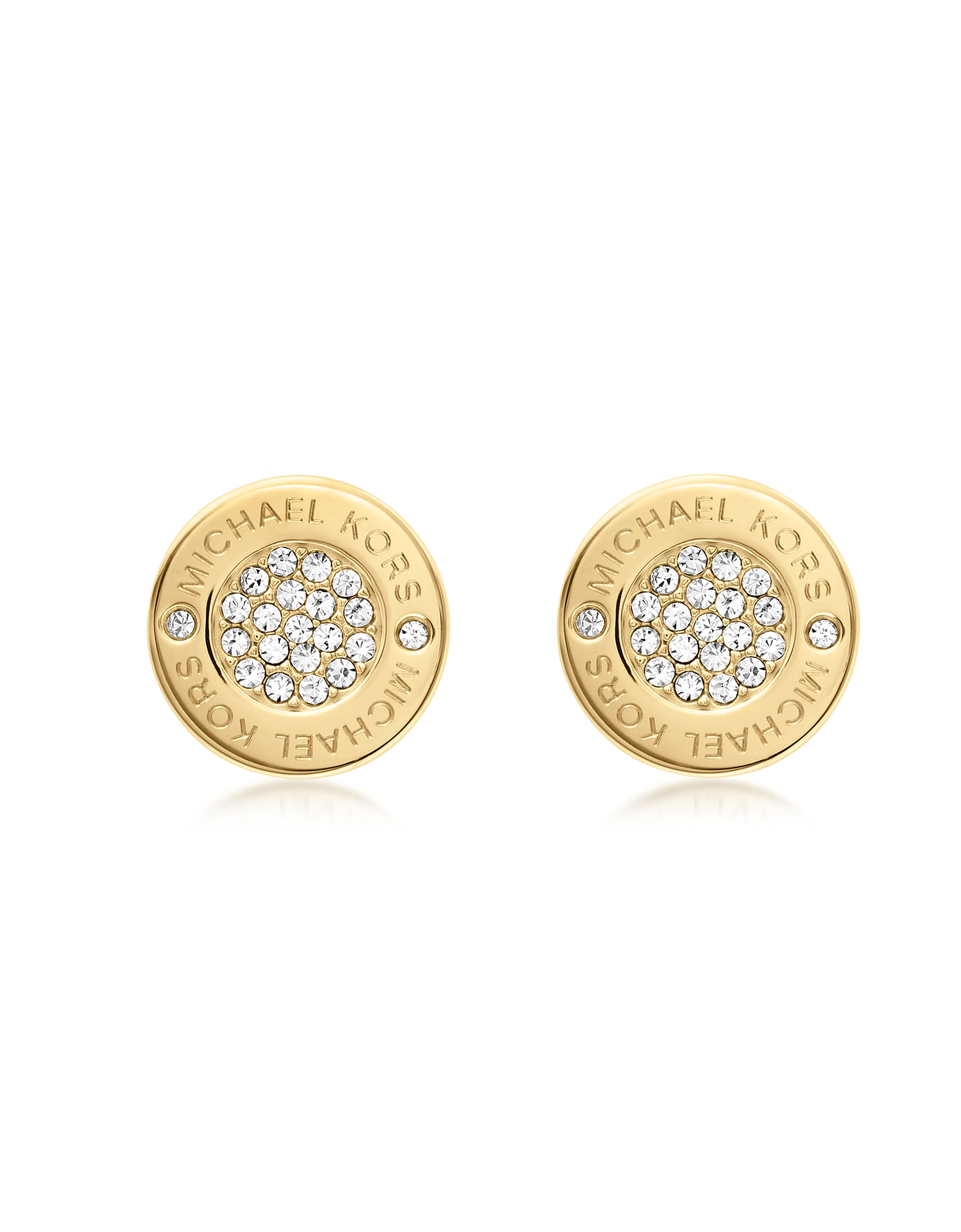 Michael Kors Earrings, Heritage Pave Stud Earrings