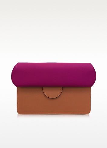 Efimia Peach and Hot Pink Leather Shoulder Bag - Roksanda