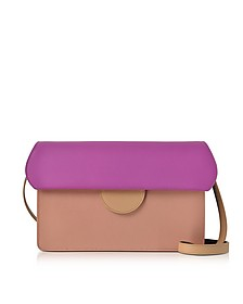 Efimia Peach and Hot Pink Leather Shoulder Bag - Roksanda