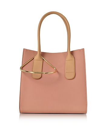 Roksanda - Peach and Mastic Leather Mini Weekend Bag