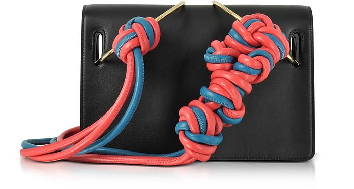 Black Leather Dia Shoulder Bag - Roksanda