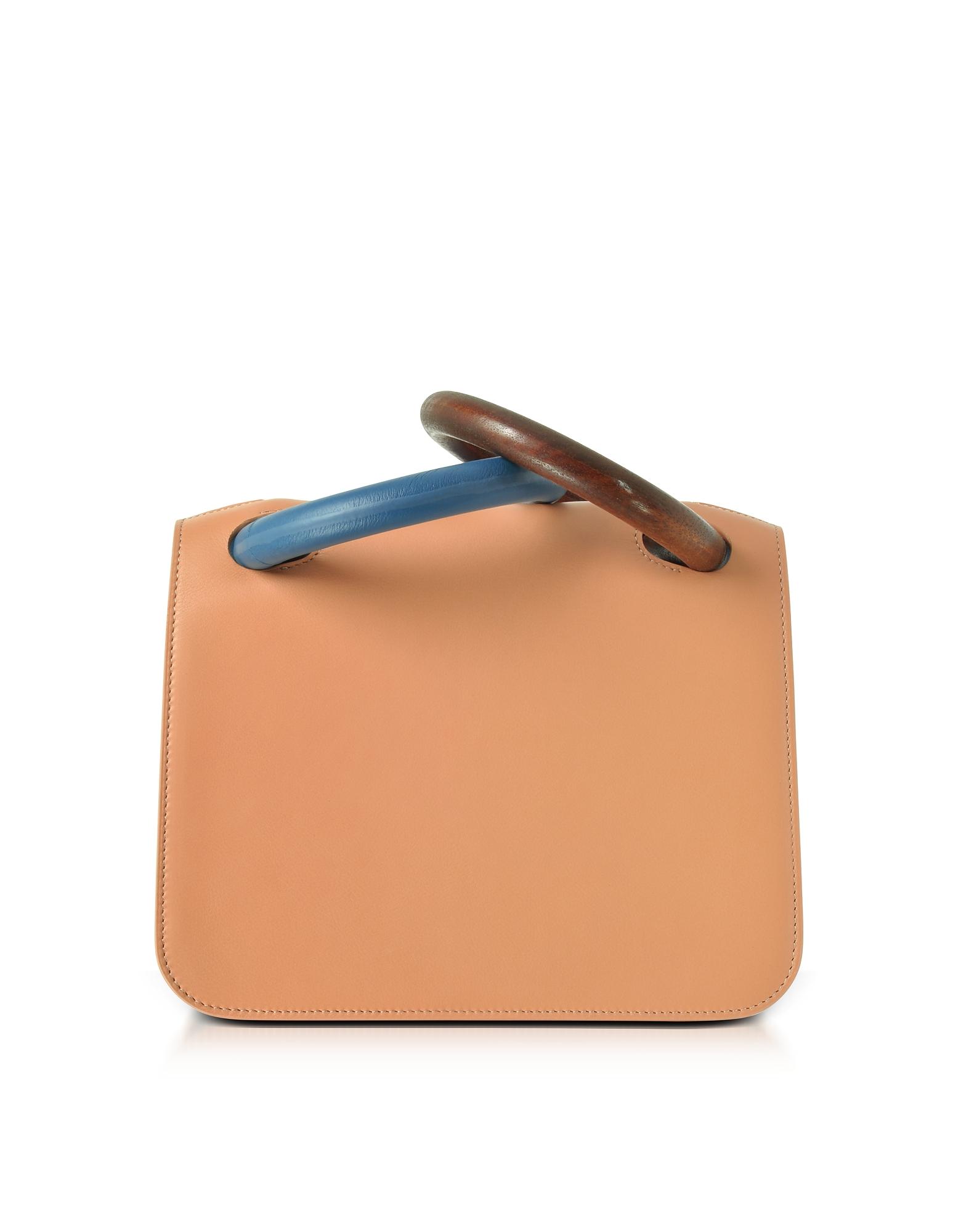 Roksanda Handbags, Desert Sand Leather Neneh Bag w/Wooden Handles