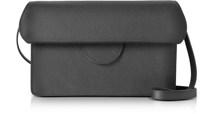 Efimia Black and Navy Leather Shoulder Bag - Roksanda
