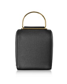 Black and Navy Leather Besa Bag - Roksanda
