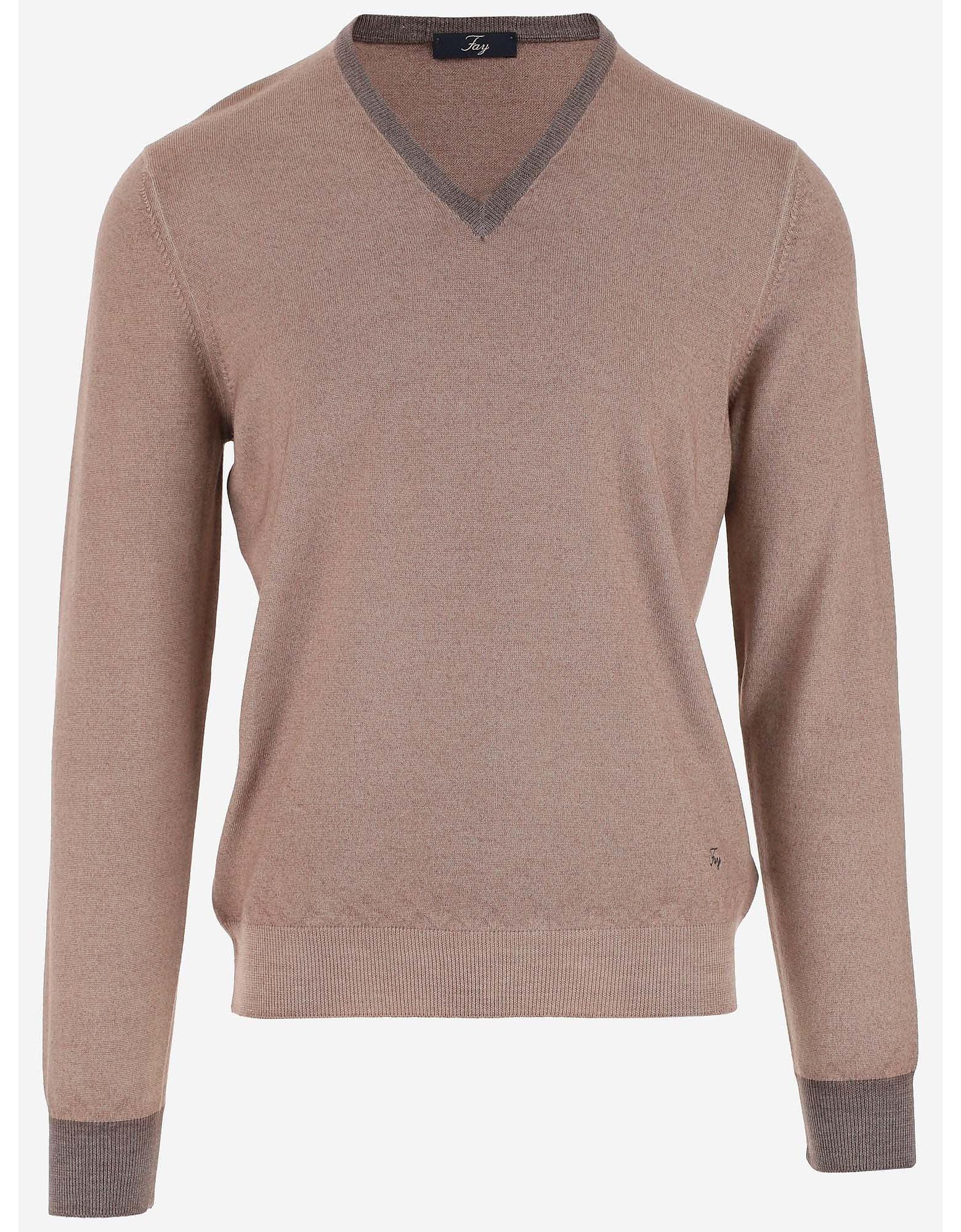 Fay Designer Knitwear, Men's Crewneck Sweater