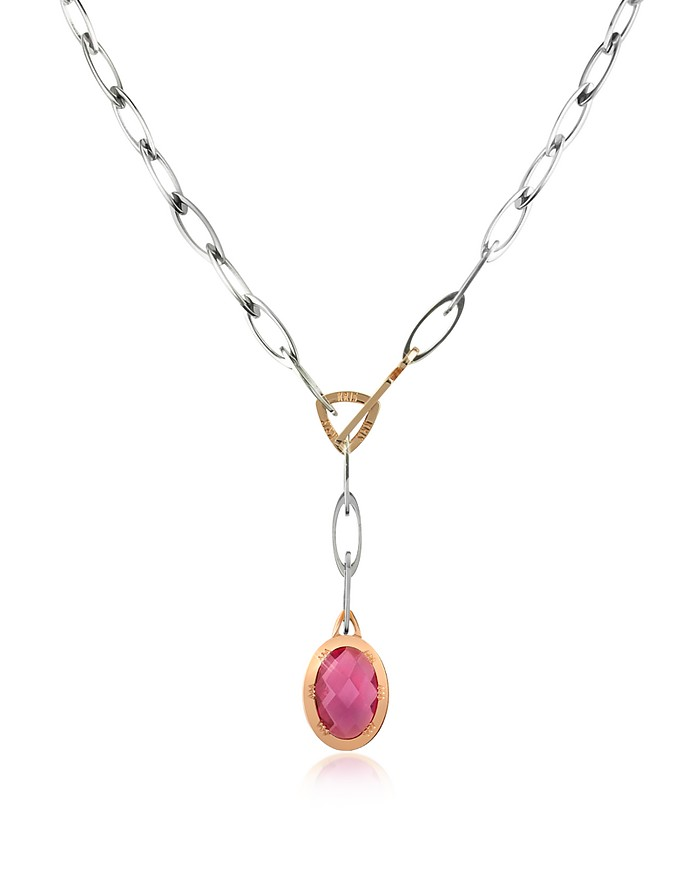 Regina - Plum Stone Drop Necklace - Kris