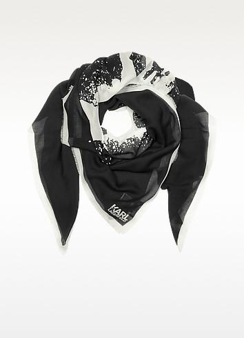 Modal and Silk Sprayhead Wrap - Karl Lagerfeld