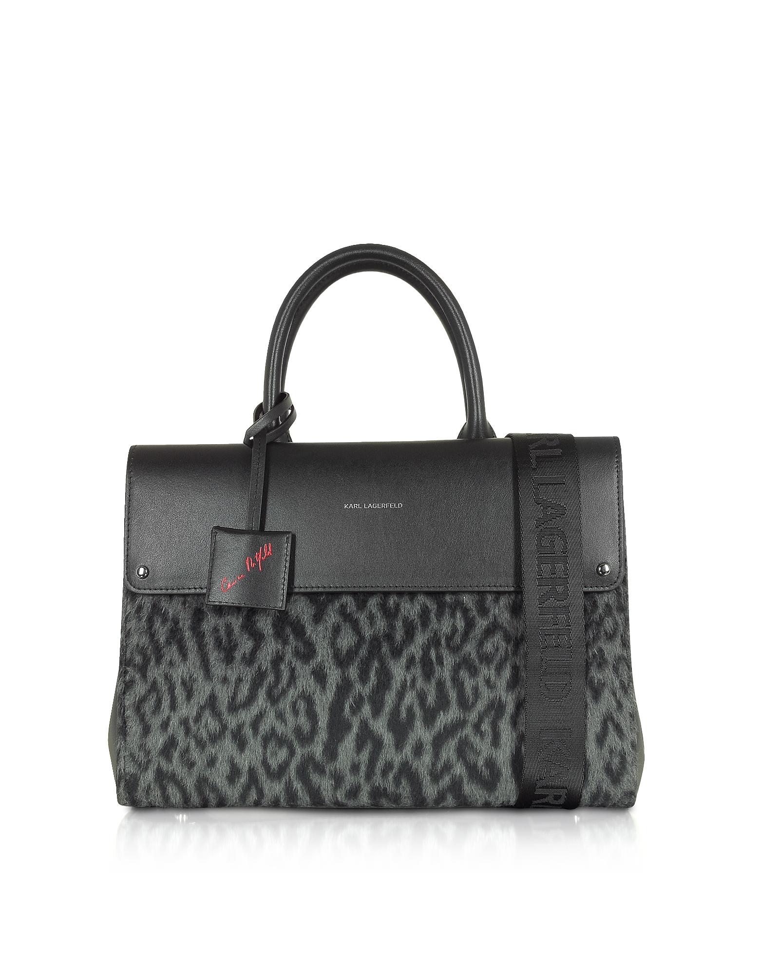 Karl Lagerfeld Designer Handbags, Carine X Karl Ikon Tote Leo