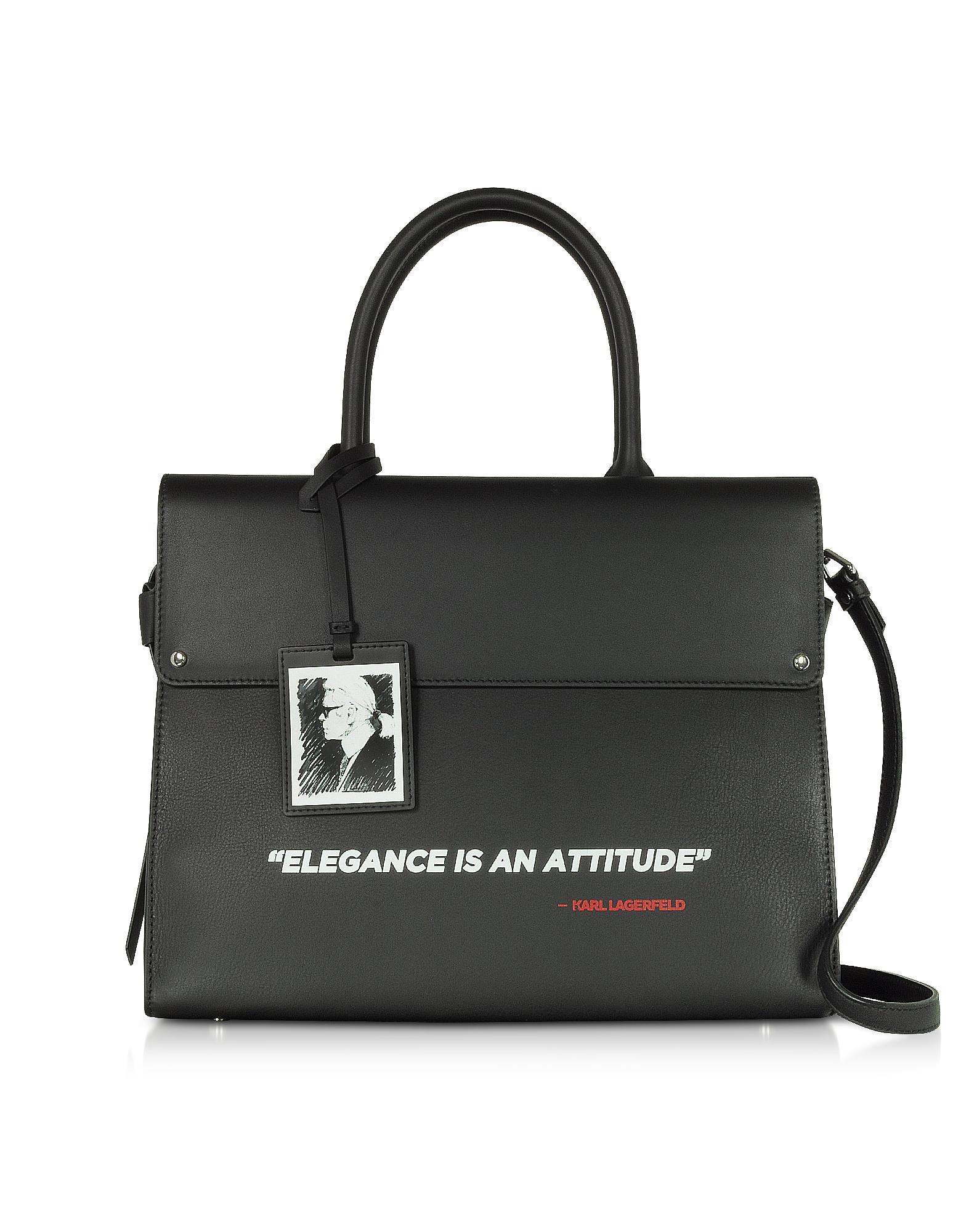 Karl Lagerfeld Designer Handbags, Karl Legend Ikon Top Handle