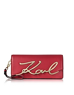 Karl Lagerfeld K/Signature Pochette in Pelle Rossa - karl lagerfeld - it.forzieri.com