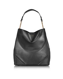 Black Leather K/Slouchy Hobo - Karl Lagerfeld