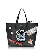 Karl Lagerfeld K/Jet Shopper Karl in Pelle Nera - karl lagerfeld - it.forzieri.com