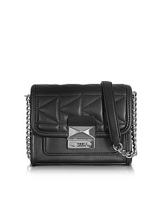 K/Kuilted Black Leather Mini Crossbody Bag - Karl Lagerfeld