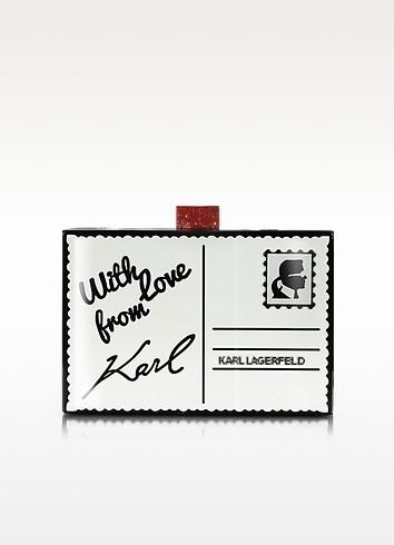 Postcard Box Clutch - Karl Lagerfeld