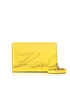 K/Signature Saffiano Leather Shoulder Bag - Karl Lagerfeld