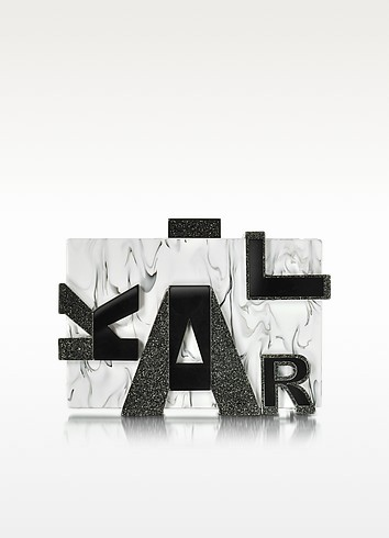Karl Marble Clutch - Karl Lagerfeld