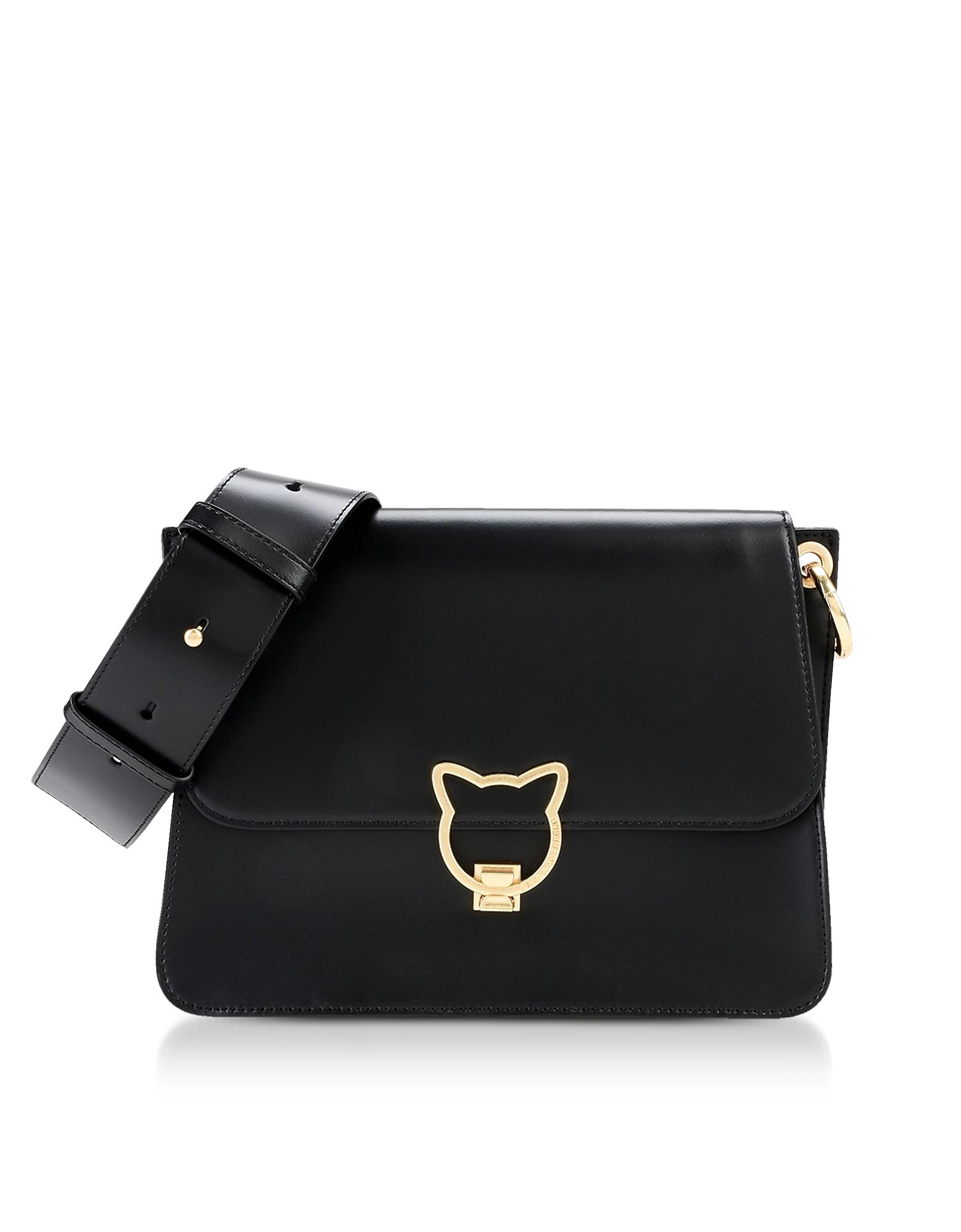 Black K/Kat Lock Shoulder Bag