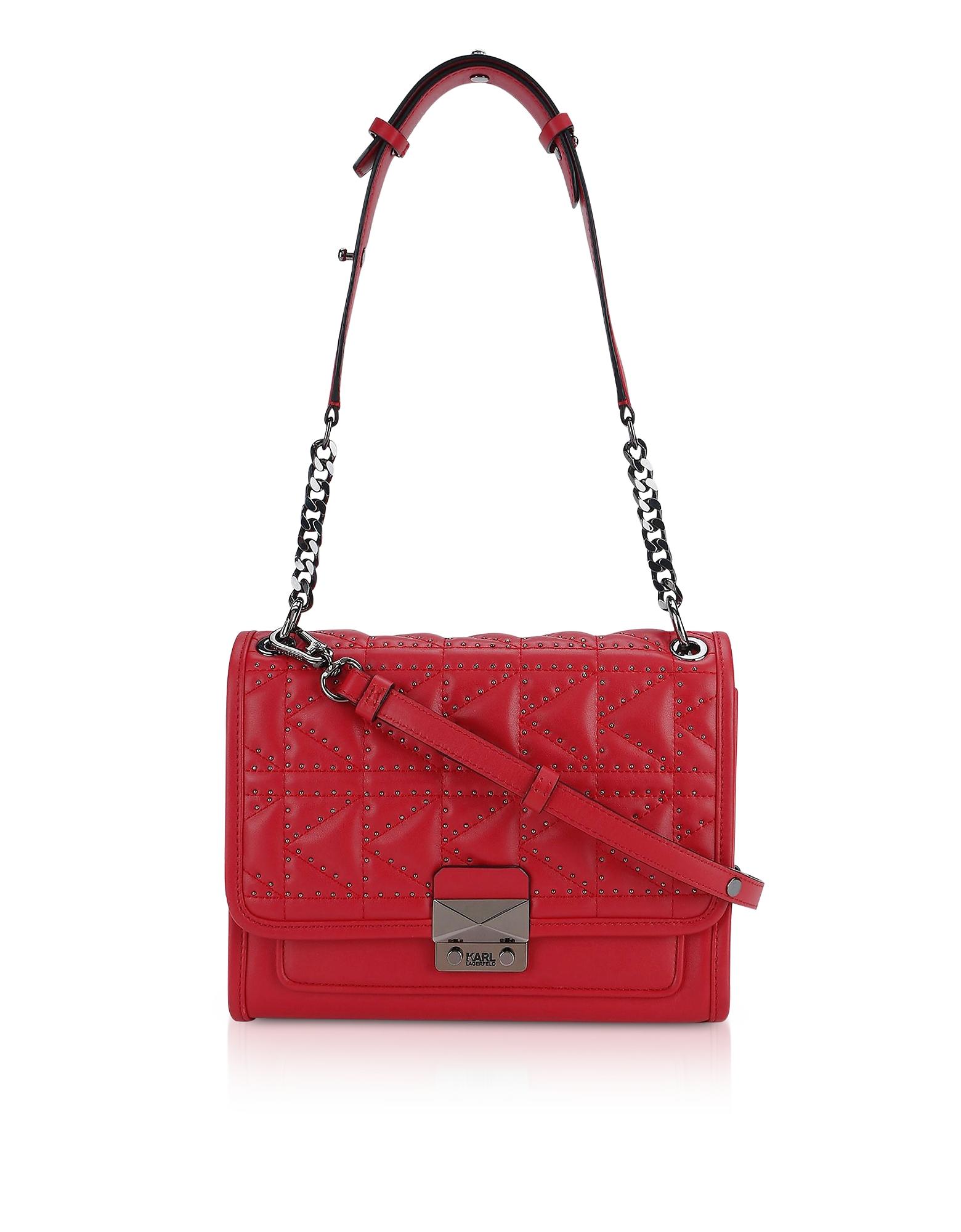 K/Kuilted Rosewood Studs Handbag