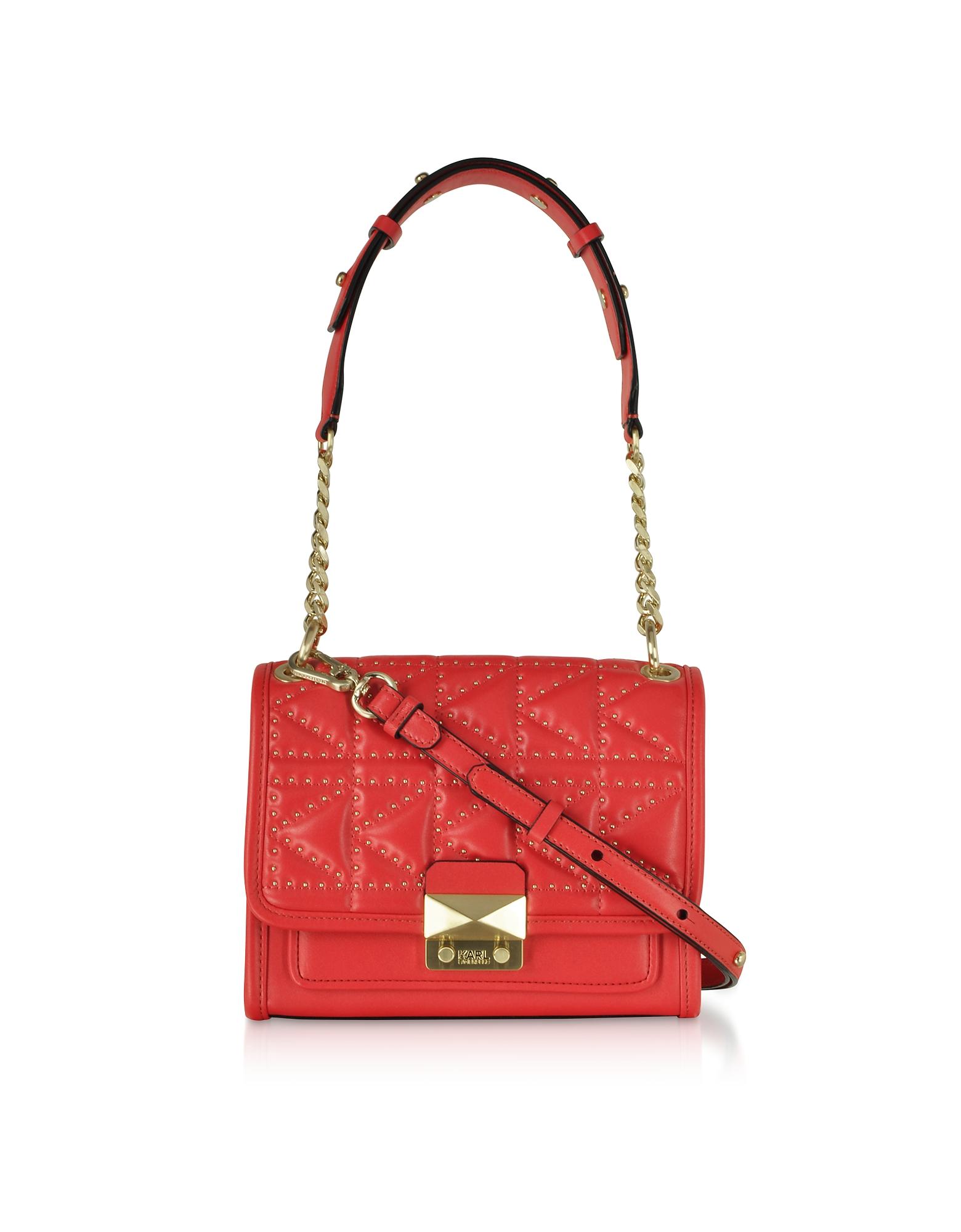 Karl Lagerfeld Designer Handbags, K/Kuilted Studs Small Handbag